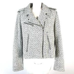 Gap wool blend tweed moto jacket